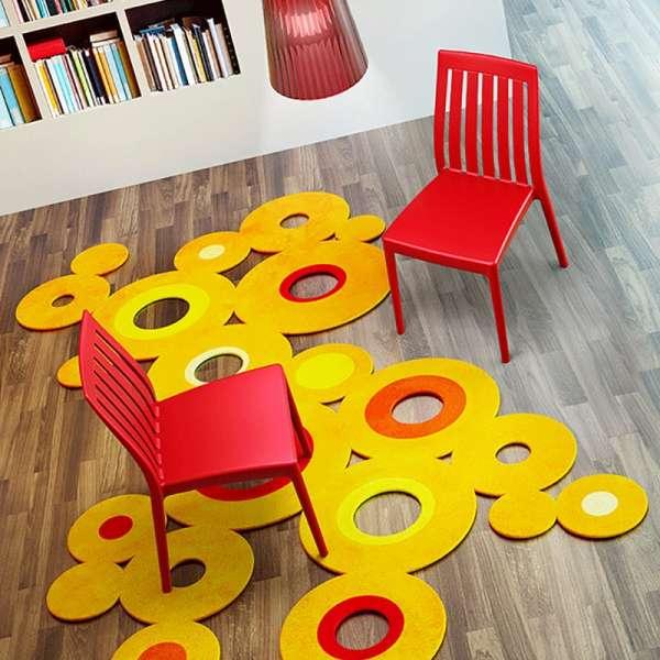 Chaise en polypropylène rouge - Soho  - 3