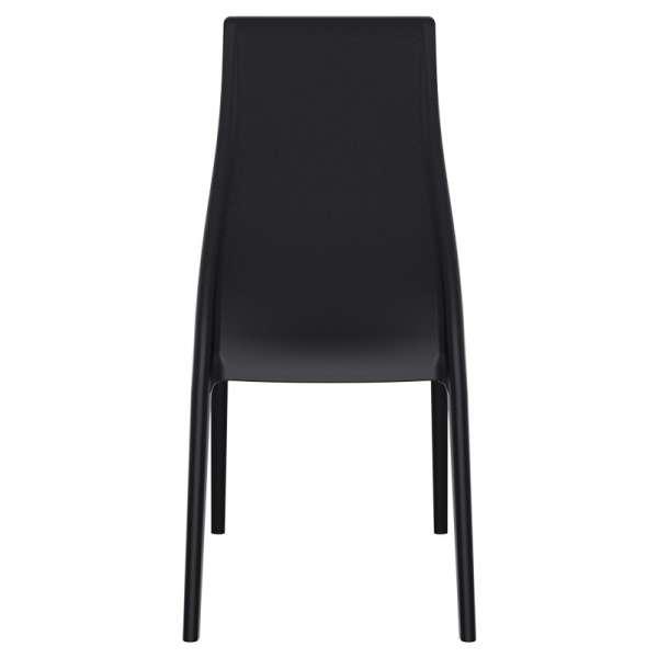 Chaise en polypropylène noir - Miranda 4 - 6