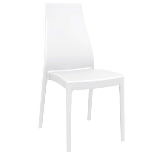 Chaise en polypropylène blanc - Miranda - 11