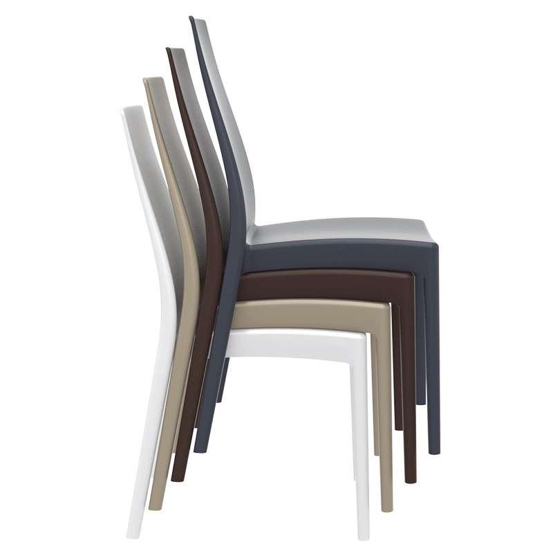 chaise empilable en polypropyl ne miranda 4 pieds tables chaises et tabourets. Black Bedroom Furniture Sets. Home Design Ideas