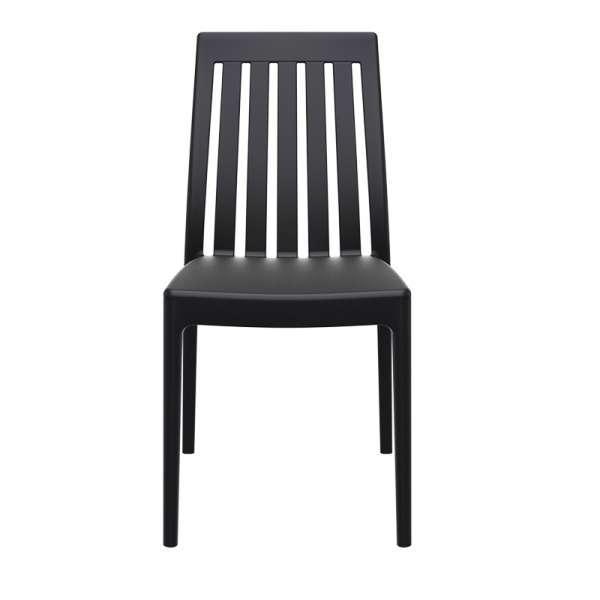 Chaise moderne en polypropylène noir - Soho 5 - 13