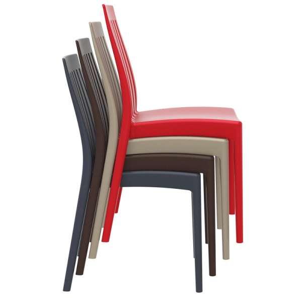 Chaise moderne en polypropylène empilable - Soho - 14