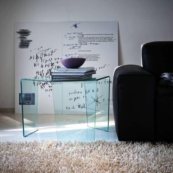 Table basse design en verre - 3 Feet Sovet® 1 - 2
