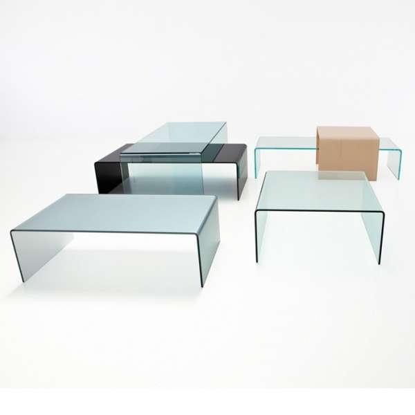 Table basse moderne rectangulaire en verre - Bridge Sovet® 3 - 3