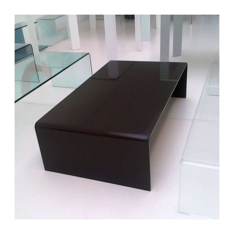 Table basse moderne rectangulaire en verre bridge sovet 4 - Table salon moderne ...