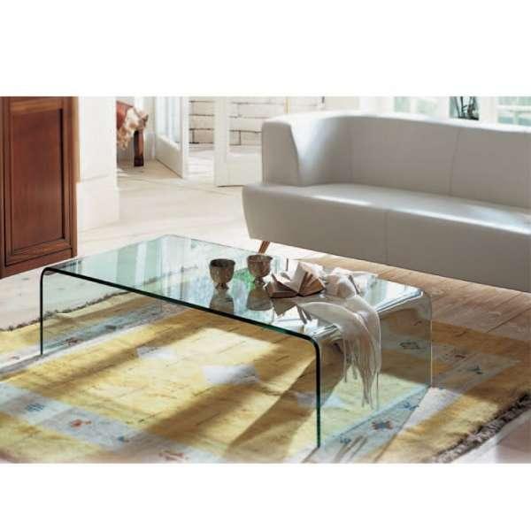 Table basse moderne rectangulaire en verre - Bridge Sovet® 4 - 4