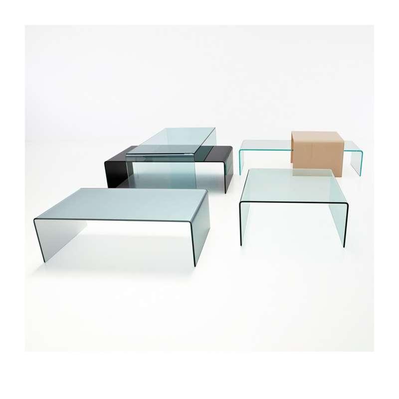 Table basse moderne carr e en verre bridge sovet 4 pieds tables chais - Table carree en verre ...