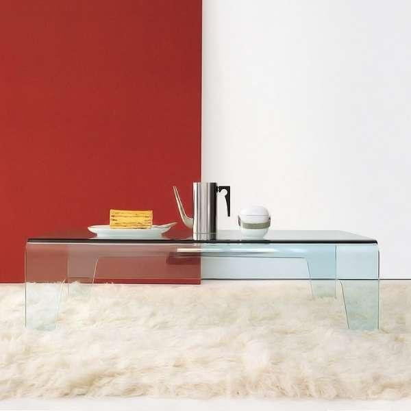 Table basse design rectangulaire ou carrée en verre - Frog Sovet® - 5