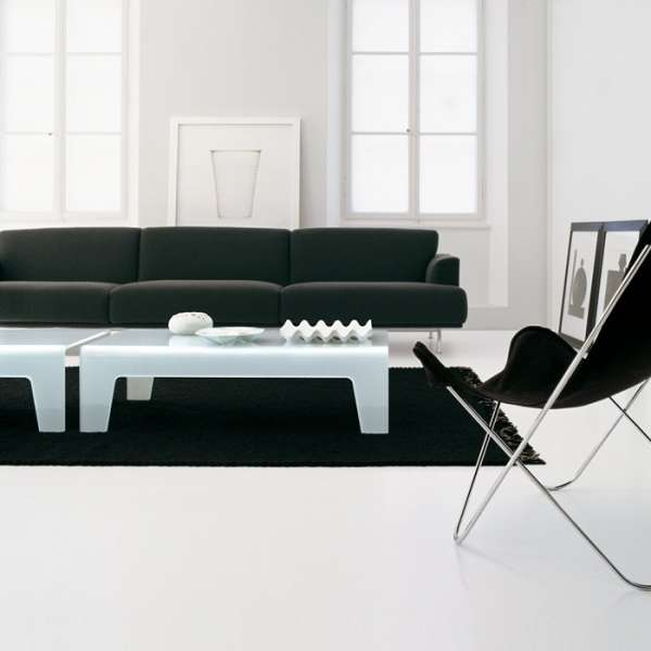 Table basse design rectangulaire ou carrée en verre - Frog Sovet® 4 - 6