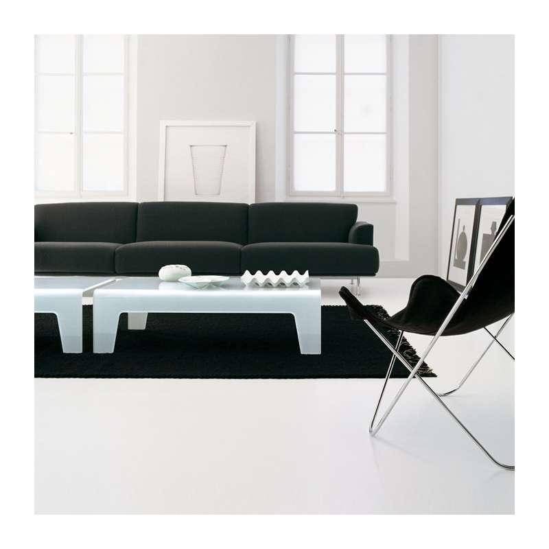 Table basse design rectangulaire en verre frog sovet for Table basse pour studio