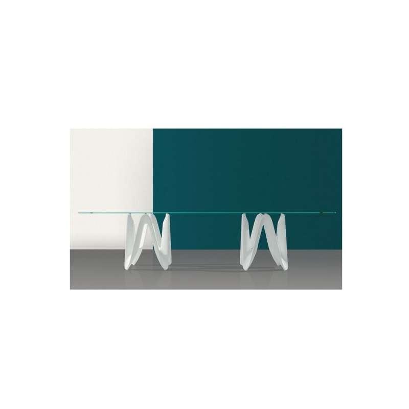 Table de salle manger design en verre 320 x 120 cm for Table salle manger verre design italien