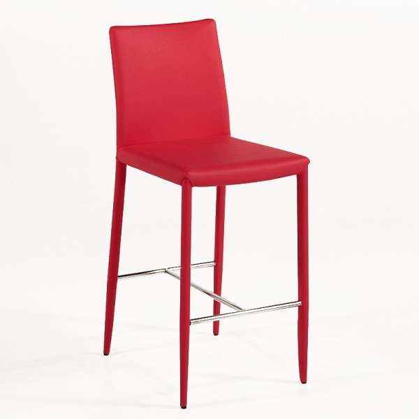 Tabouret snack ou bar contemporain en cuir beo 4 pieds tables chaises et tabourets for Tabouret bar contemporain