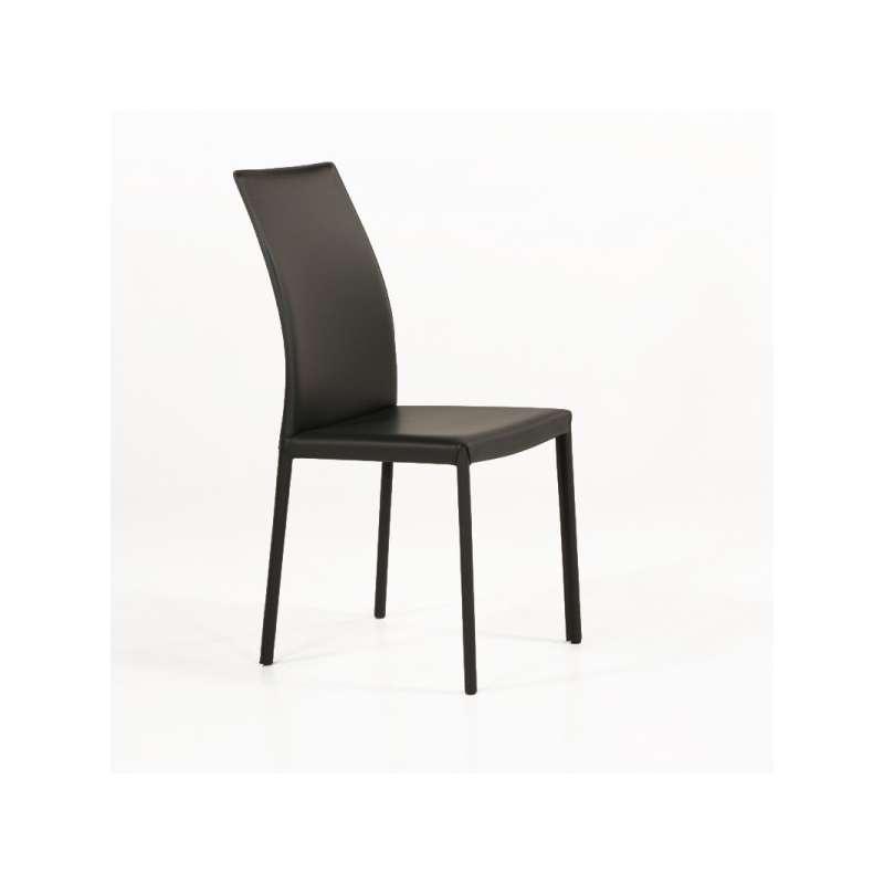 Chaise de salle à manger en croûte de cuir - Giada | 4-pieds.com