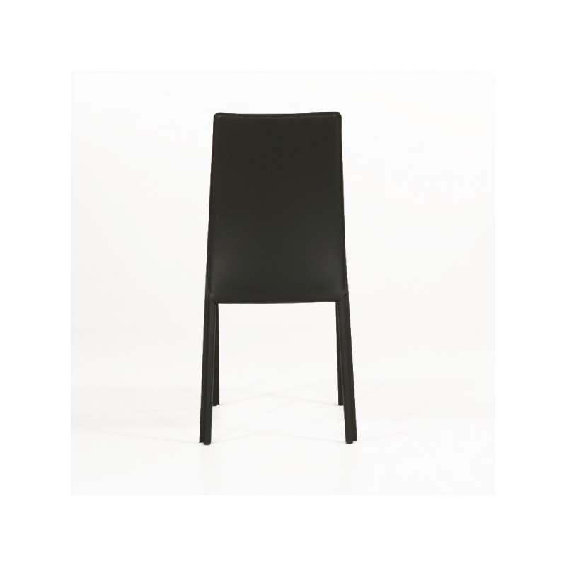 Chaise de salle manger en cro te de cuir giada 4 - Chaise de salle a manger en cuir ...