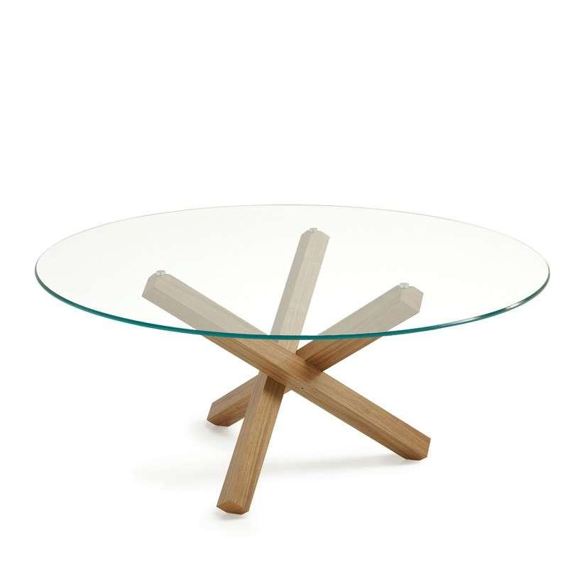 Table en verre design ronde aikido sovet 4 for Mesa cristal 4 personas