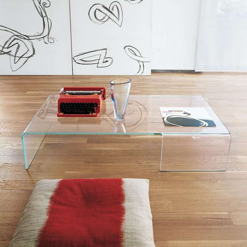 Table basse design rectangulaire en verre spider sovet - Table basse rectangulaire design ...