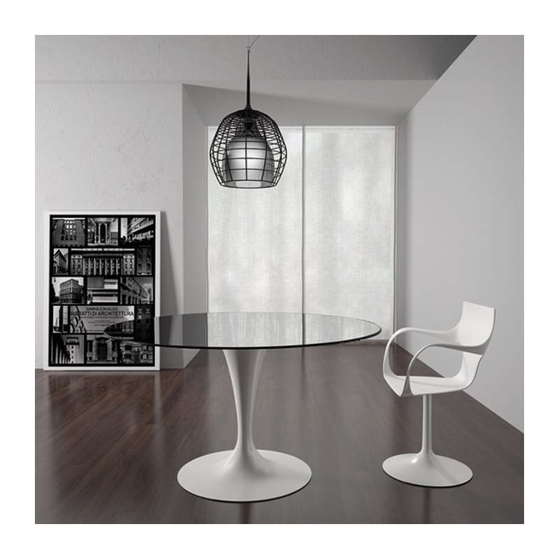 table ronde design en verre fl te sovet 4. Black Bedroom Furniture Sets. Home Design Ideas