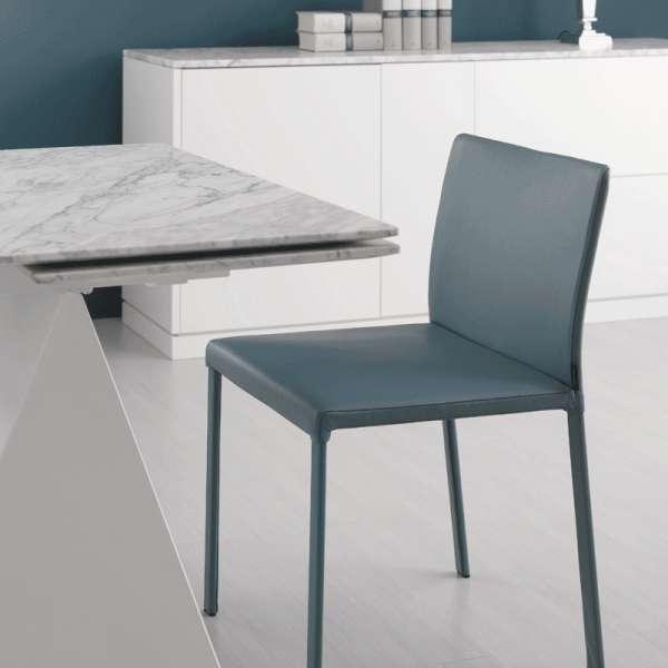 Table design extensible en marbre blanc - Euclide 3 - 3