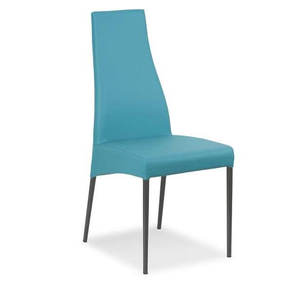 Chaise de salle à manger italienne en synthétique - Carla
