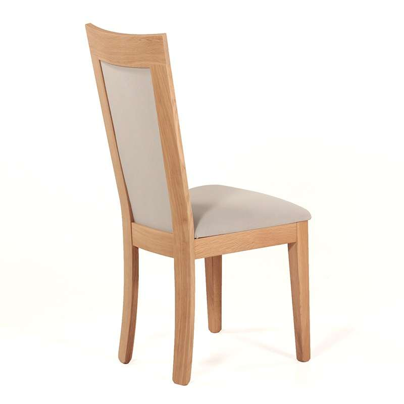 Chaise Bois Et Tissu - Chaise en bois et tissu rembourré Crocus 4 Pieds tables, chaises et tabou