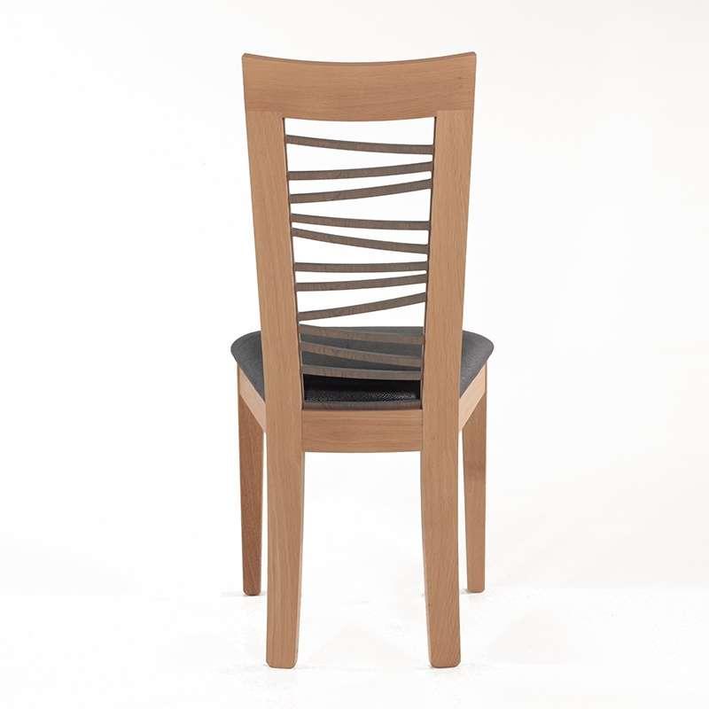 Chaise dos bois fantaisie crocus 4 pieds tables for Chaise 4 pieds design