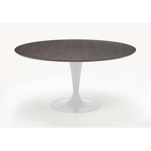 Table ronde design plateau bois - Flute Sovet® 4 - 6