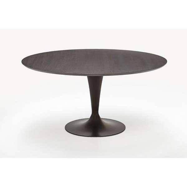 Table ronde design plateau bois - Flute Sovet® 5 - 7