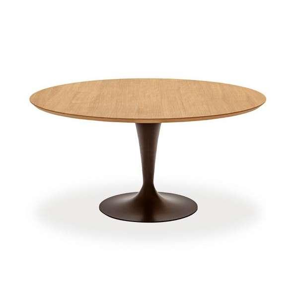 Table ronde design plateau bois - Flute Sovet® 6 - 8