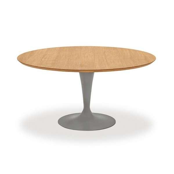 Table ronde design plateau bois - Flute Sovet® 7 - 9