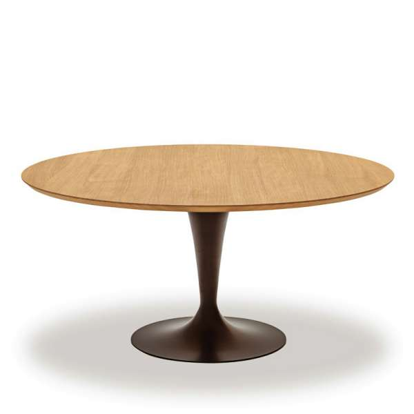 Table ronde design plateau bois - Flute Sovet® - 3