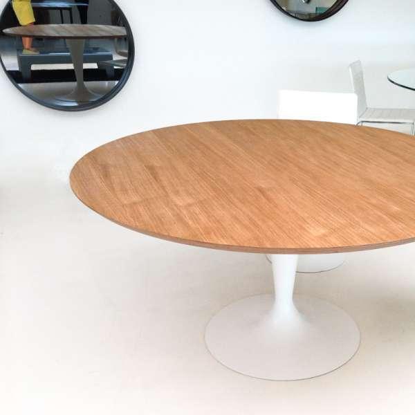 Table ronde design plateau bois - Flute Sovet® 3 - 5