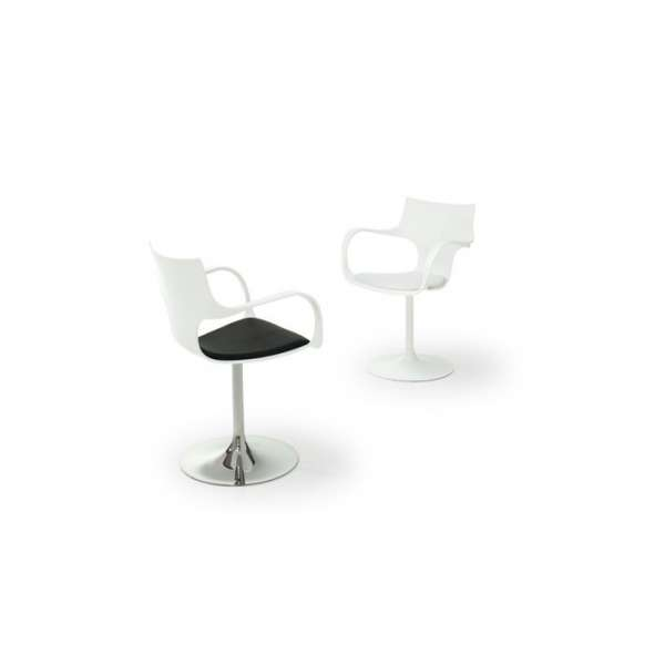 Chaise design pivotante avec accoudoirs en métal et polypropylène  - Flûte Sovet® 3 - 6