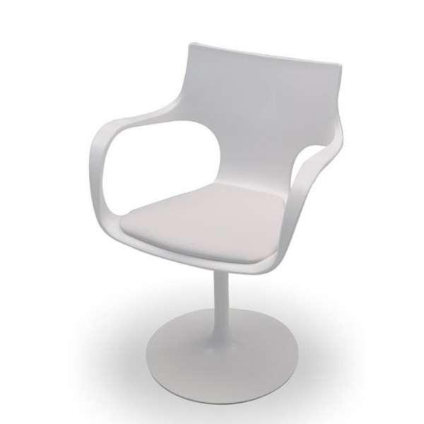 Chaise design pivotante avec accoudoirs en métal et polypropylène  - Flûte Sovet® 4 - 5