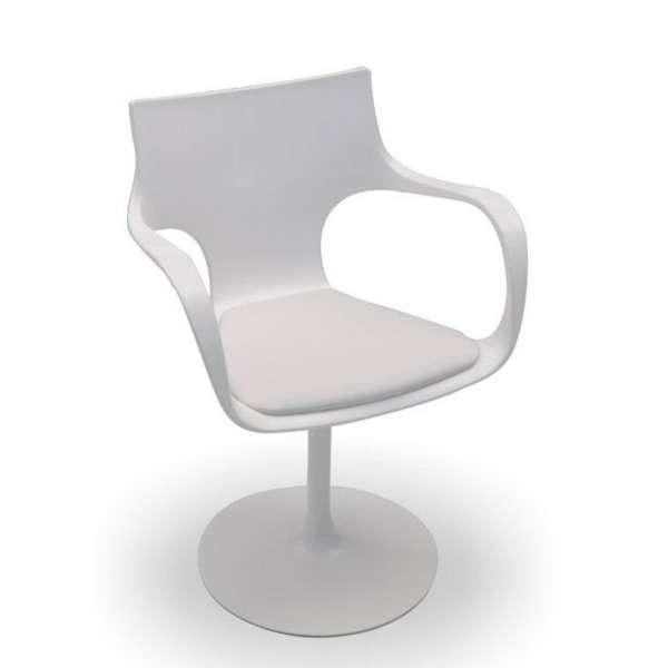 Chaise design pivotante avec accoudoirs en métal et polypropylène  - Flûte Sovet® 2 - 4