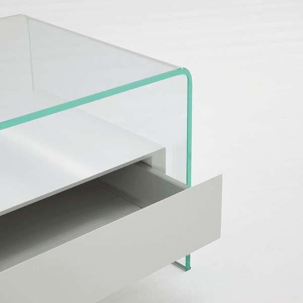 Table basse en verre avec tiroir - Bridge Sovet® 3 - 2