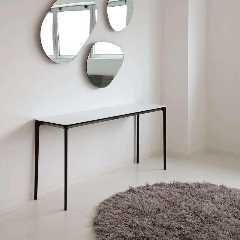 console design en verre faible profondeur slim sovet 4. Black Bedroom Furniture Sets. Home Design Ideas