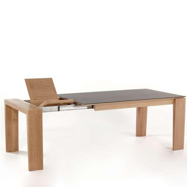 Table extensible en c ramique bakou 4 pieds tables for Table extensible en largeur