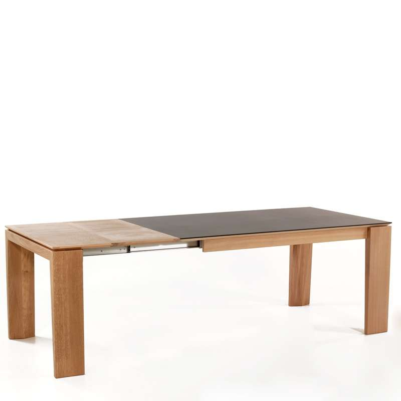Table extensible en c ramique bakou 4 pieds tables for Salle a manger table ceramique