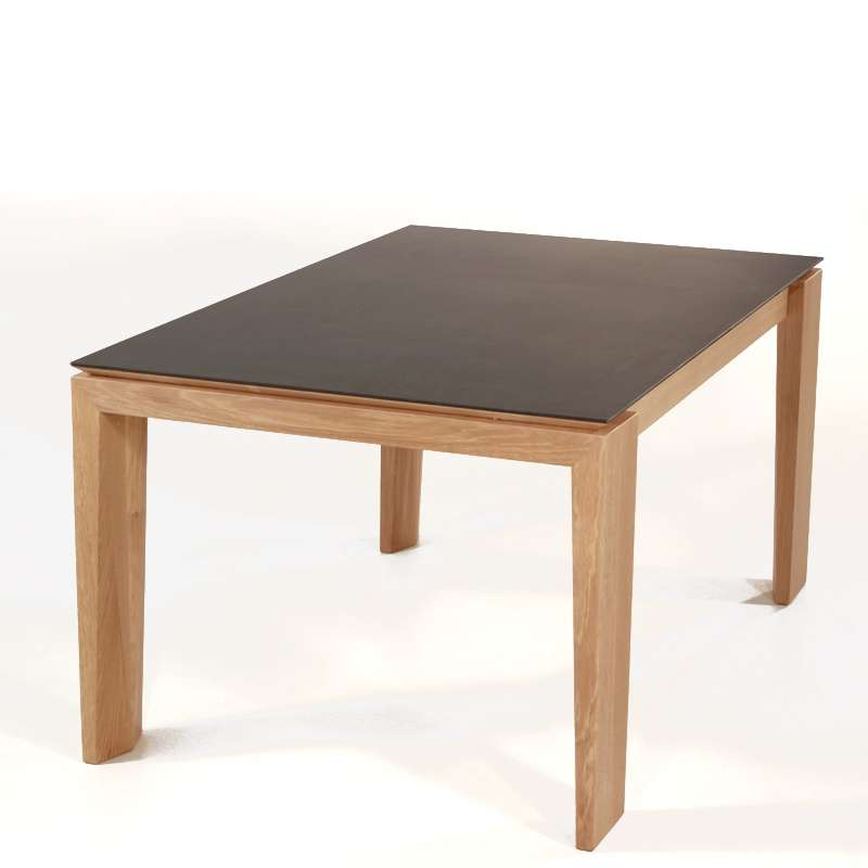 Table extensible en c ramique bakou 4 pieds tables for Table extensible 4 chaises