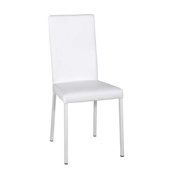 Chaise contemporaine en vinyl blanc - Garda 14 - 14