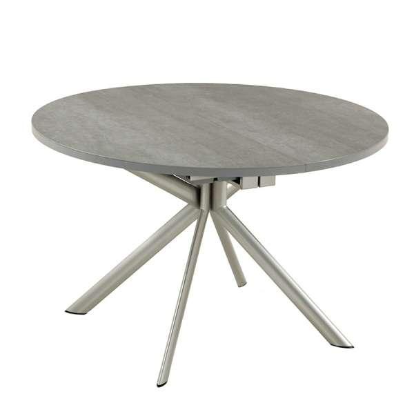 Table ronde en céramique grise extensible - Giove - 2