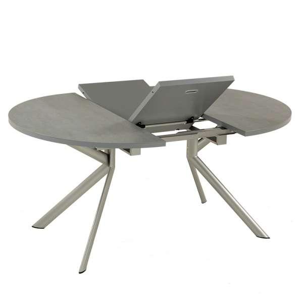 Table ronde en céramique grise extensible - Giove 3 - 4