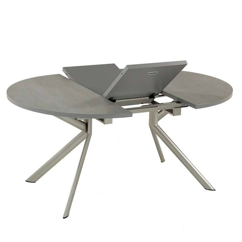 Table ronde extensible en c ramique giove connubia 4 for Table 4 pieds