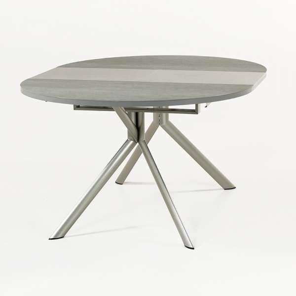 Table ronde en céramique grise extensible - Giove 8 - 9