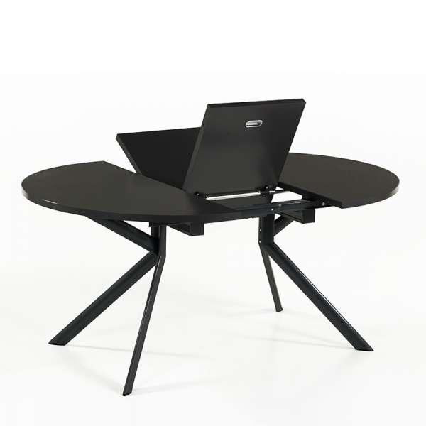 Table ronde en céramique noire extensible - Giove 12 - 13