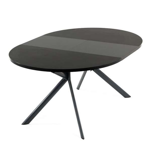 Table ronde en céramique noire extensible - Giove 16 - 16