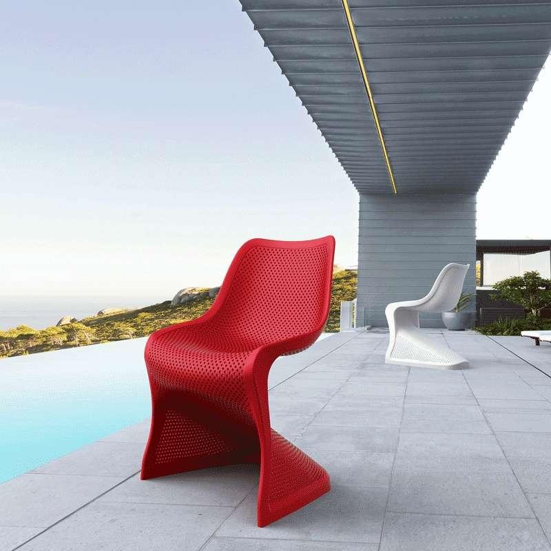 chaise design ajour e en polypropyl ne bloom 4 pieds tables chaises et tabourets. Black Bedroom Furniture Sets. Home Design Ideas