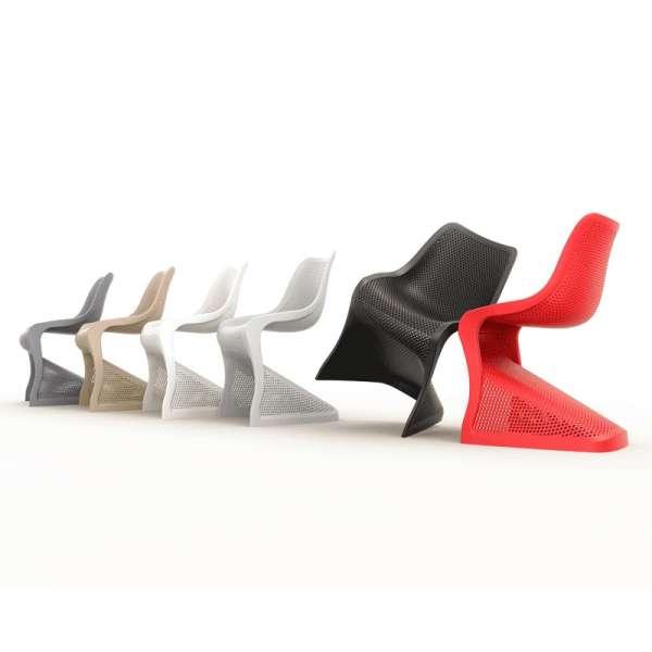 Chaise design en polypropylène ajouré - Bloom - 7