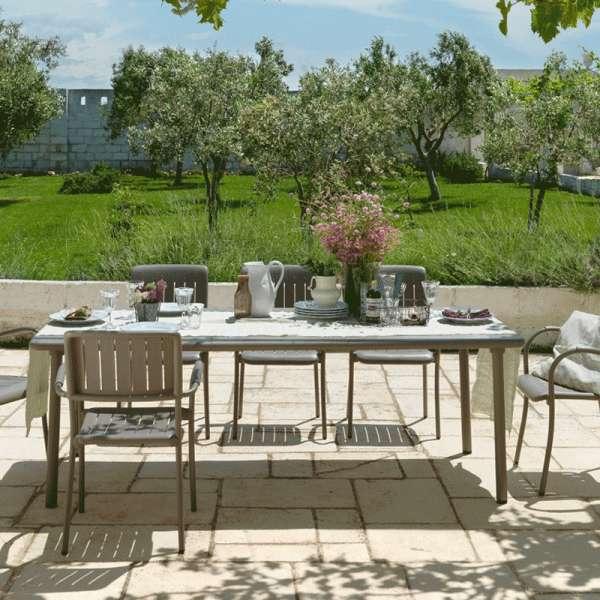 table de jardin extensible en polypropyl 232 ne et aluminium maestrale 4 pieds