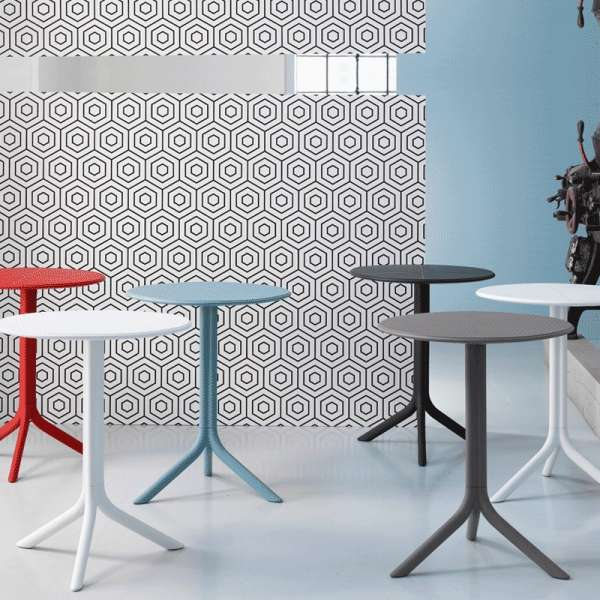 Table d'appoint de jardin modulable en polypropylène - Step